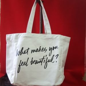 """BareMinerals """"what makes you feel beautiful tote"""""""